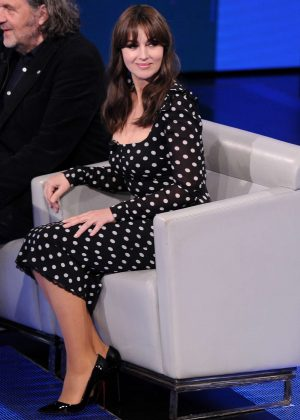 Monica Bellucci - Italian Talk Show in Milan