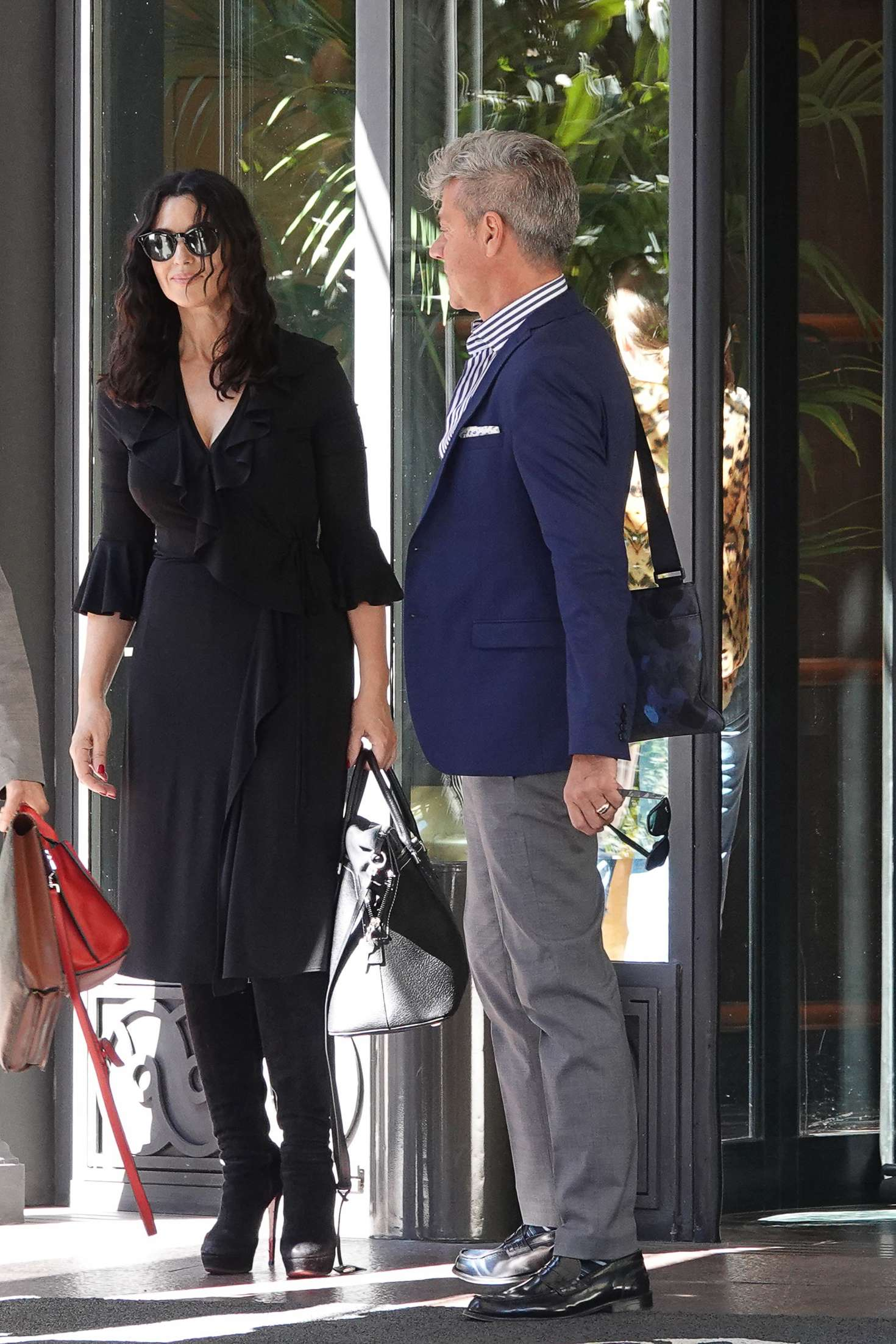 Monica Bellucci 2018 : Monica Bellucci: Leaves the Hotel Principe di Savoia -01