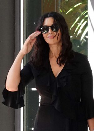 Monica Bellucci - Leaves the Hotel Principe di Savoia in Milan
