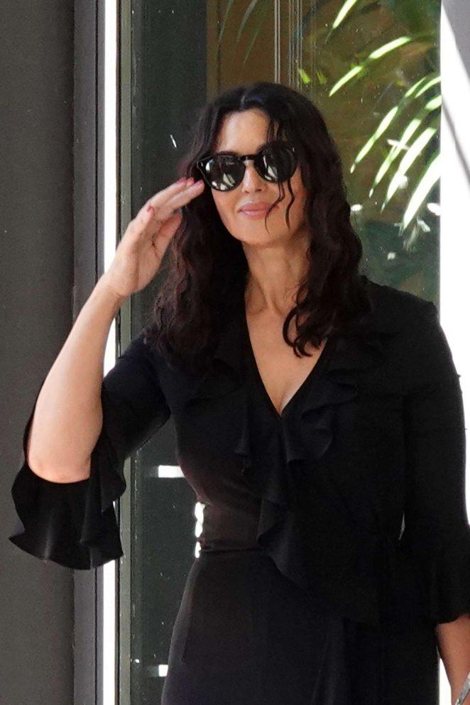 Monica Bellucci - Leaves the Hotel Principe di Savoia in Milan
