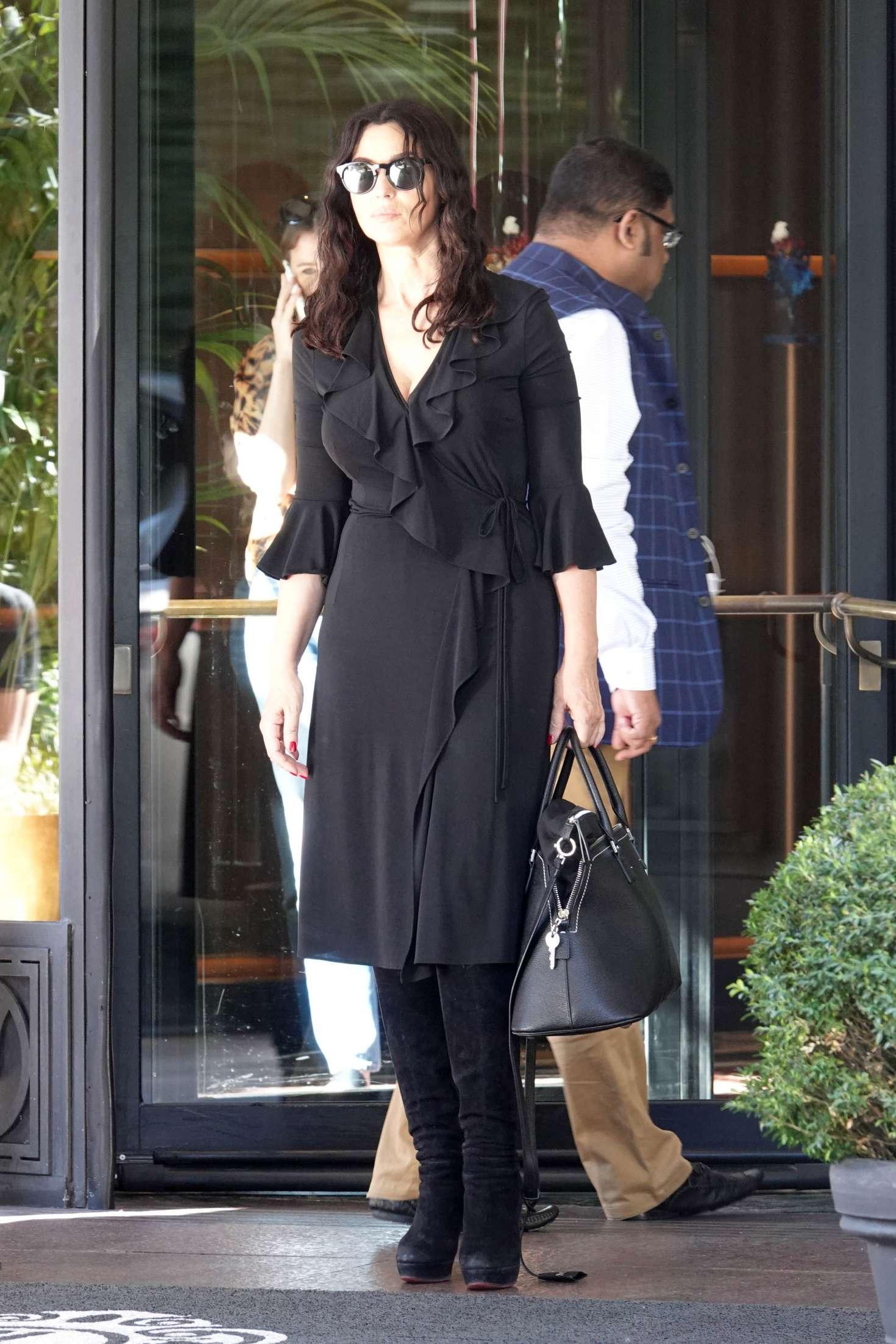Monica Bellucci 2018 : Monica Bellucci: Leaves the Hotel Principe di Savoia -07