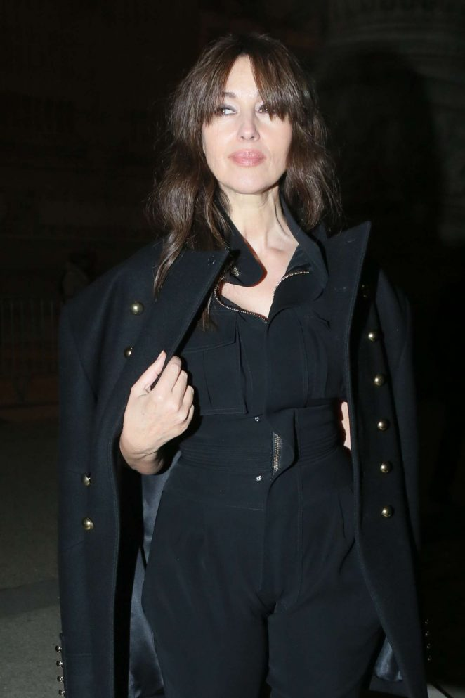 Monica Bellucci - Leaving Alexandre Vauthier SS 2017 Show in Paris