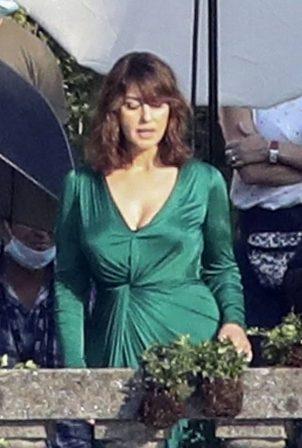 Monica Bellucci - On a DG advertising campaign in Lake Como