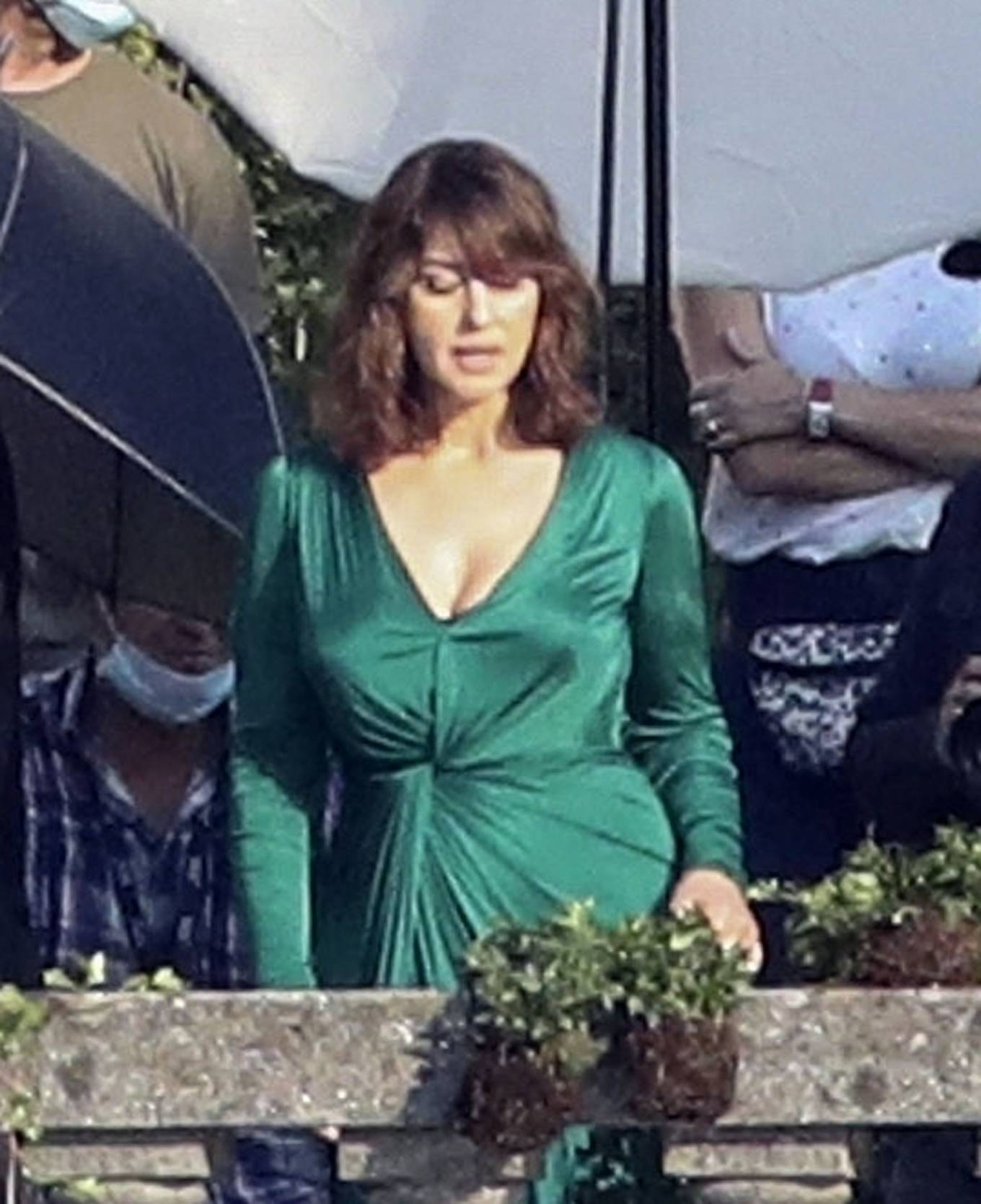 Monica Bellucci - On a DG advertising campaign in Lake Como