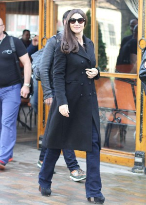 Monica Bellucci out and about in Belgrade