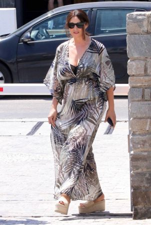 Monica Bellucci - Out in Paros Island in Greece
