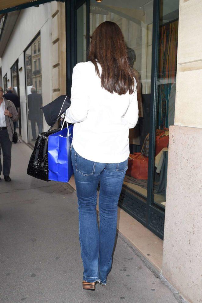Monica Bellucci - Shopping Candids During Paris Fashion Week 2017