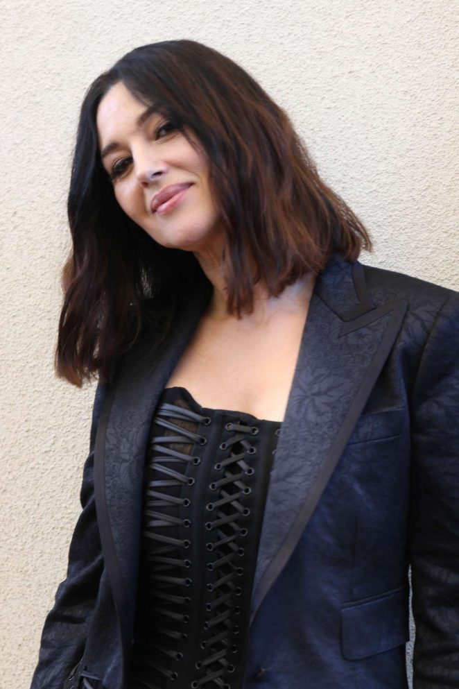 Monica Bellucci - Visits the HFPA Offices in Los Angeles