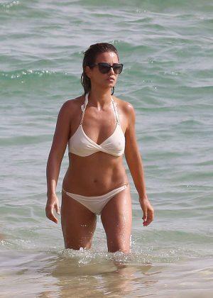 Monica Cruz - Bikini Candids in Cadiz