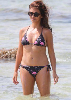 Monica Cruz in Bikini on the beach in Cadiz