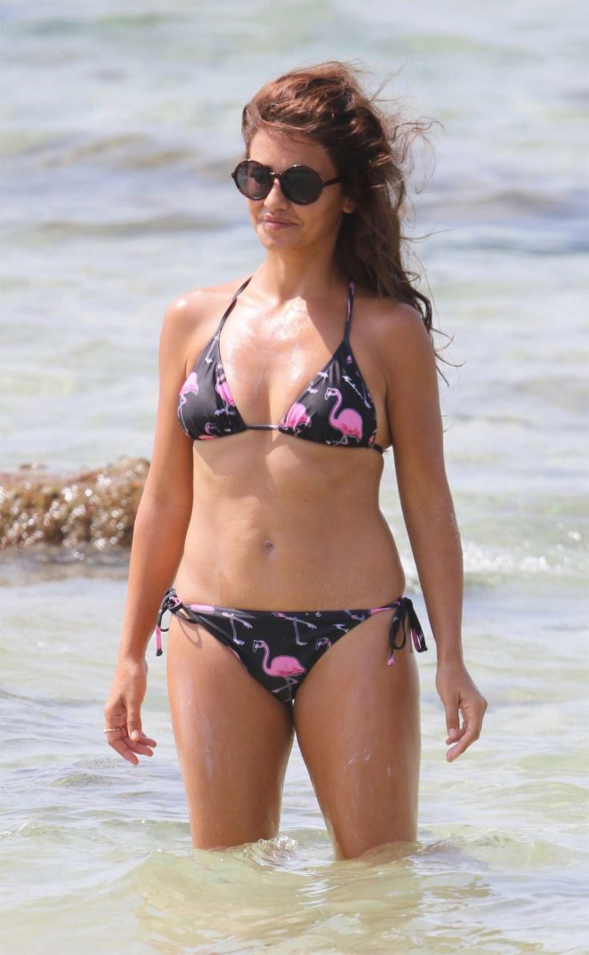 Monica Cruz in Bikini on the beach in Cadiz