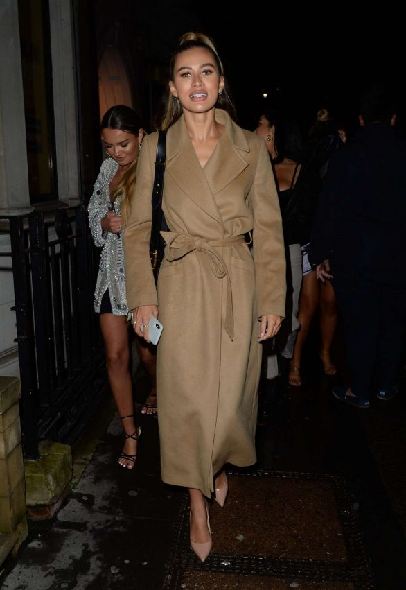 Montana Brown - Arriving at Bagatelle London in Mayfair