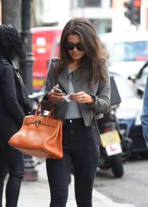 Montana Brown out for lunch with her mum in London