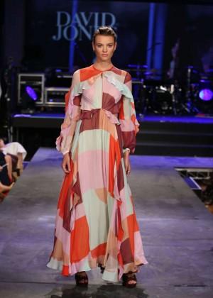 Montana Cox - David Jones S/S 2015 Fashion Launch in Sydney