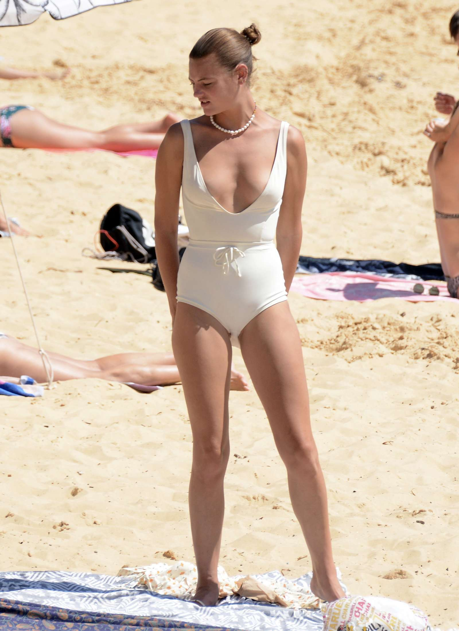 Montana Cox in Swimsuit at Camp Cove Beach