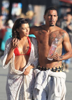 Montana Manning and MC Harvey out in Venice