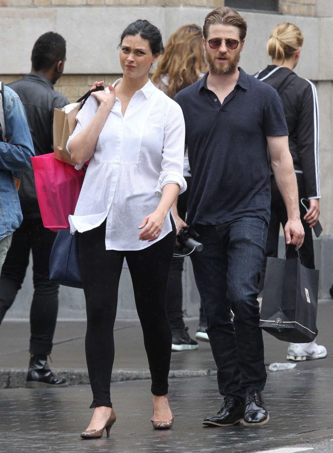 Morena Baccarin and Ben McKenzie out in New York City