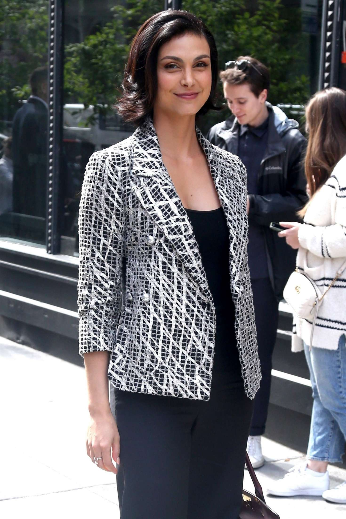 Morena Baccarin - Arrives at AOL Build Series in New York
