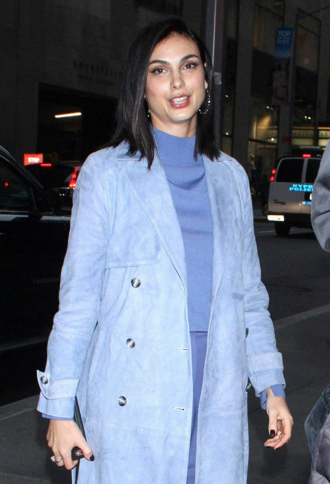 Morena Baccarin – Arriving at NBC's NY Live in New York