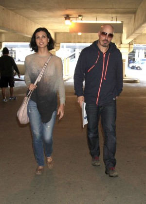 Morena Baccarin at LAX Airport in LA
