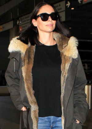 Morena Baccarin at LAX Airport in Los Angeles