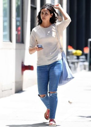 Morena Baccarin in Jeans Out in New York