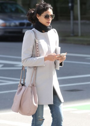 Morena Baccarin in Jeans Out in Vancouver