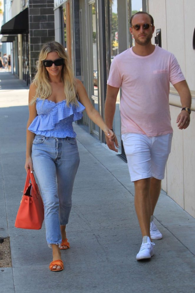 Morgan Stewart and Brendan Fitzpatrick Shopping in Beverly Hills