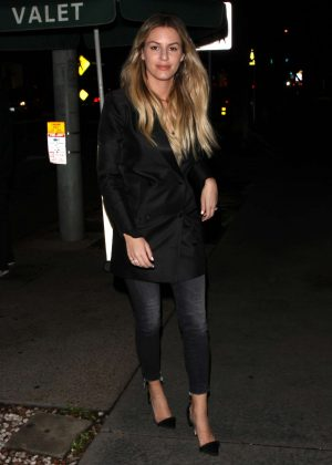 Morgan Stewart at Madeo Restaurant in West Hollywood