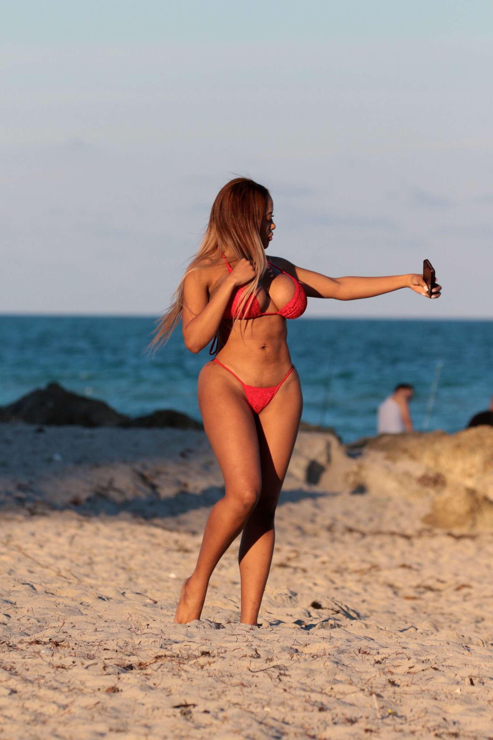 Moriah Mills 2017 : Moriah Mills in Red Bikini 2017 -13