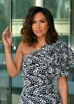 Myleene Klass - Arrives at CEW Beauty Awards in London