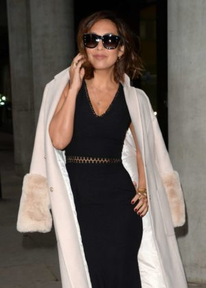 Myleene Klass - Arrives at The AOL Building in London
