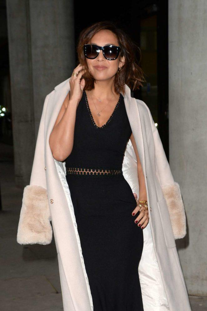 Myleene Klass - Arrives at The AOL Building in London