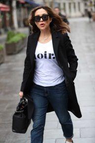 Myleene Klass - Arriving at Global offices in London