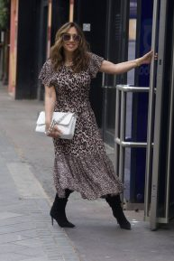Myleene Klass - Arriving at Global Radio in London