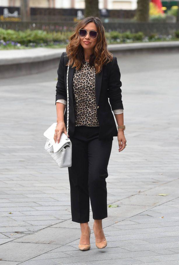 Myleene Klass - Arriving at Global Radio in London