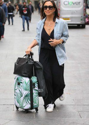 Myleene Klass - Arriving at Global Studios in London