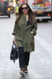 Myleene Klass - Arriving at Smooth Radio Offices in London