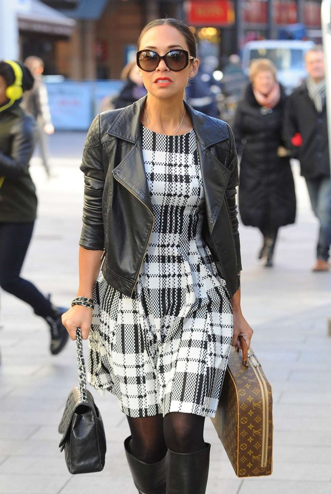 Myleene Klass at Capital Radio in London