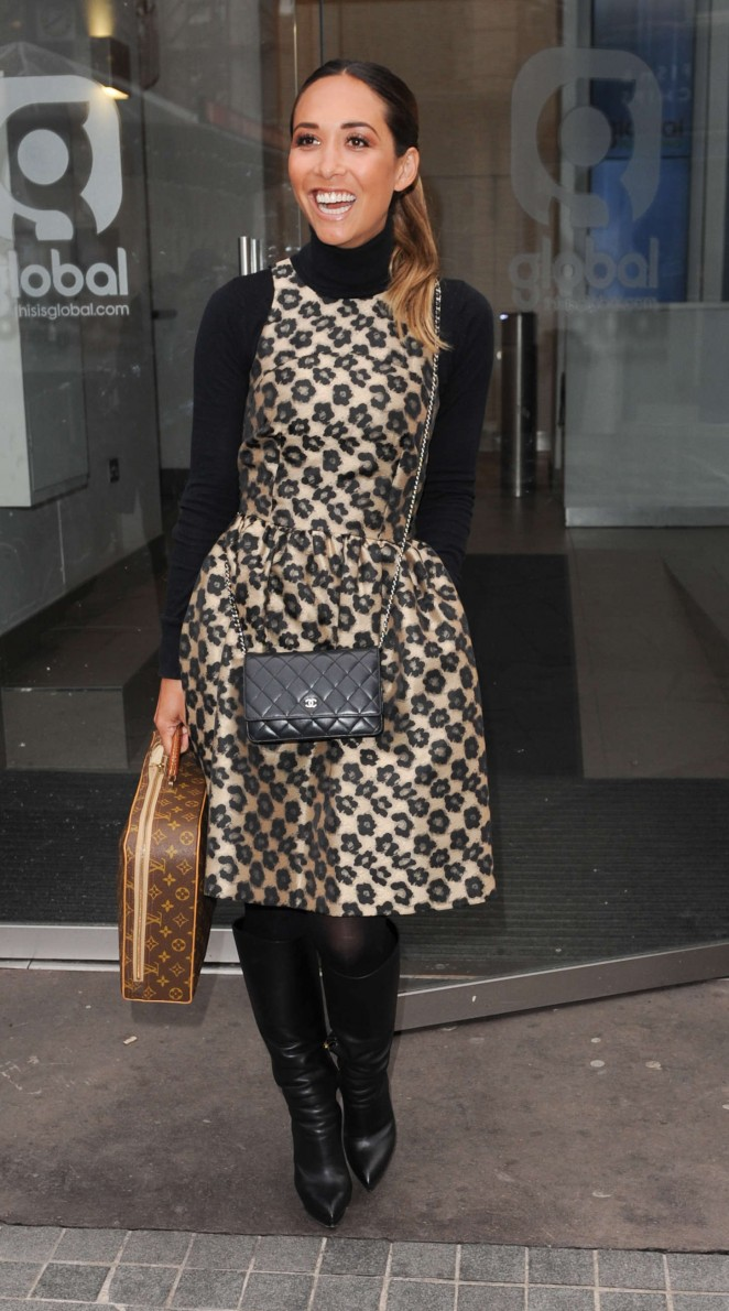 Myleene Klass at Capital Radio studios in London
