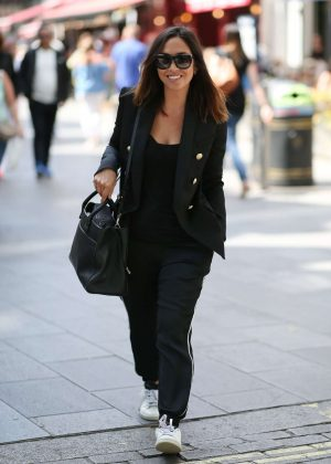 Myleene Klass - Exits Global Radio in London