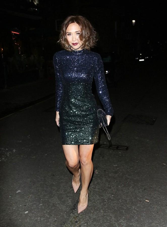 Myleene Klass - Heading to Piers Morgan's Christmas Bash in London
