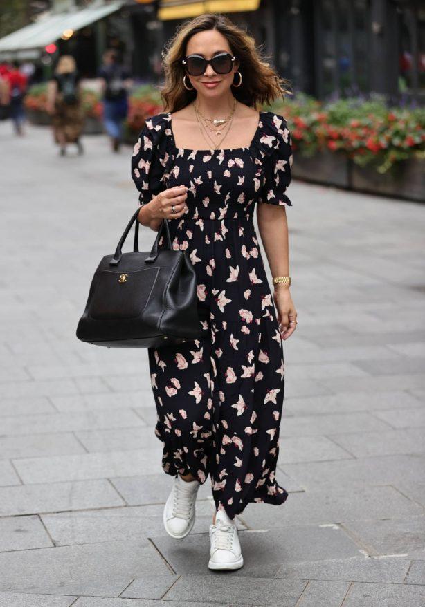 Myleene Klass - In a floral summer dress in London