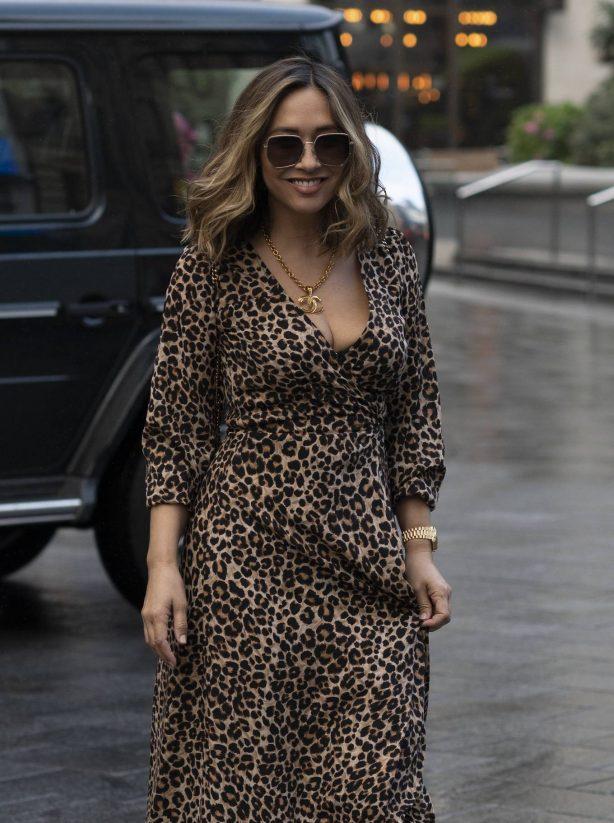 Myleene Klass - In a maxi dress arriving at Global Radio in London