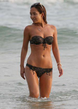 Myleene Klass in Bikini on holiday in Sri Lanka