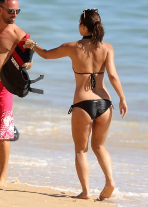 Myleene Klass - In bikini seen on holiday in Portugal