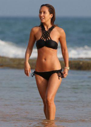 Myleene Klass in Black bikini on holiday in Sri Lanka