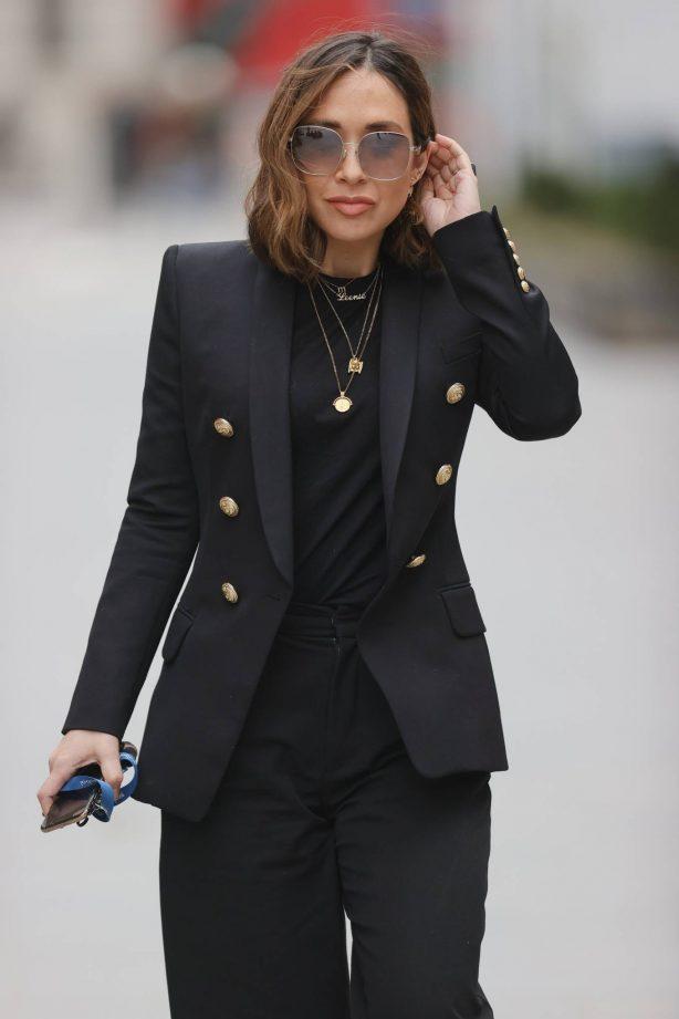 Myleene Klass - In black blazer and trousers at the Smooth Radio Studios in London