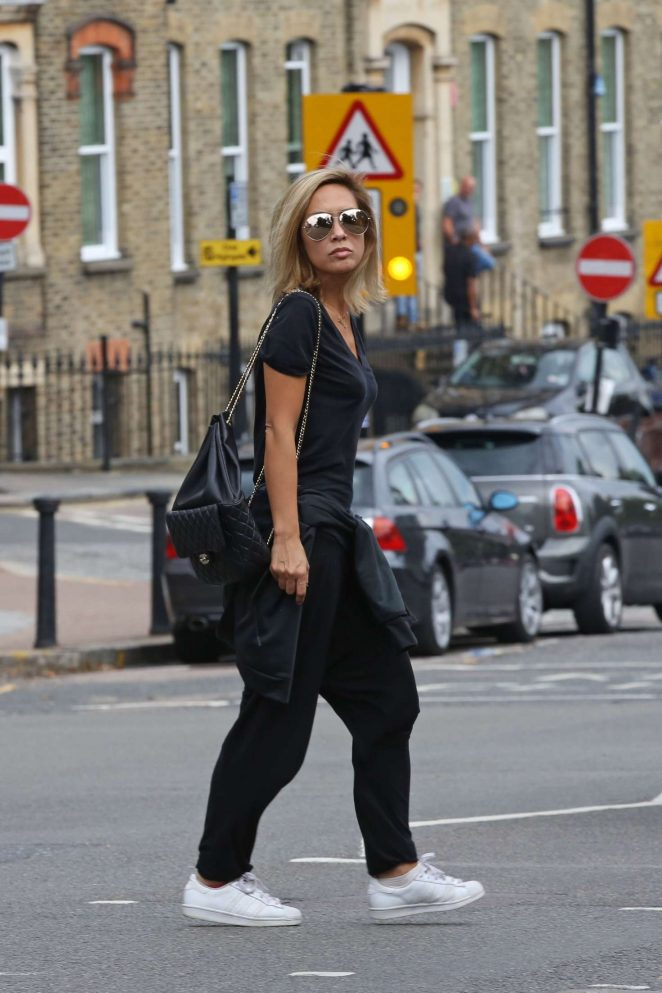 Myleene Klass in Black out in Highgate -15