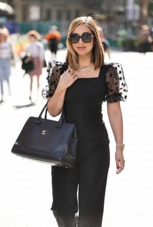 Myleene Klass - In black outfit out in London